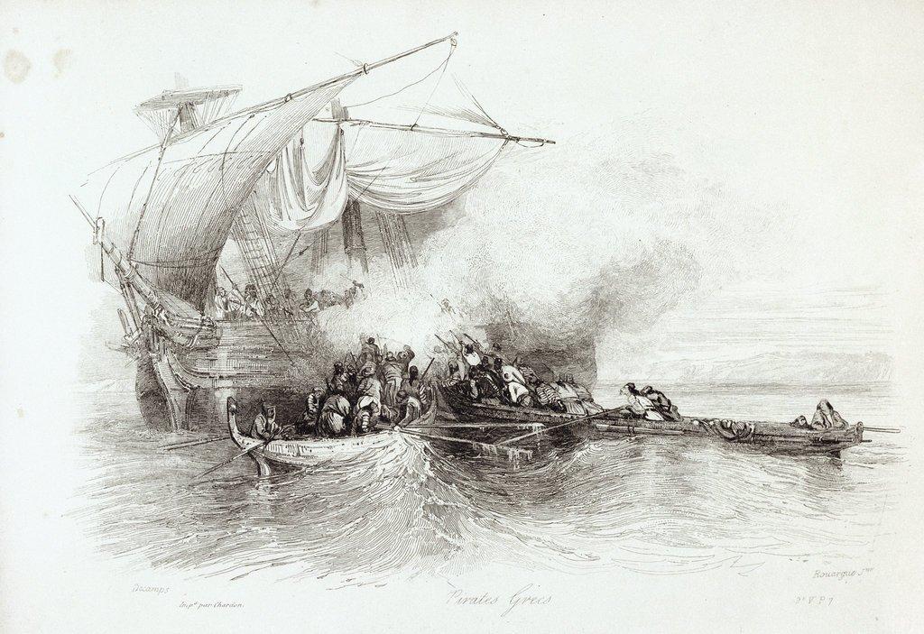 Greek Pirates by Alexandre Gabriel Decamps, 1838