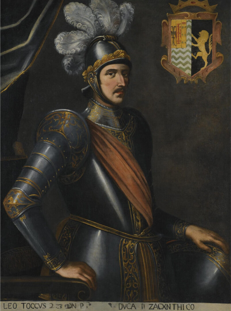 Leonardo de Tocco, Duke of Zakynthos by Carlo Sellito, c. 1510s. It is uncertain which Leonardo Tocco he represented in this painting.