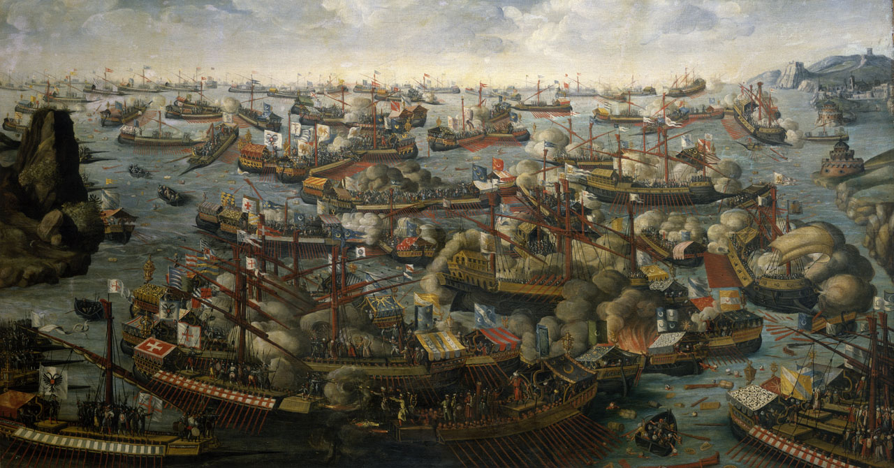 The Battle of Lepanto by an unknown artist